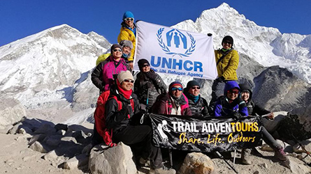Hiking for the world's refugees and reaching Mt. Everest's Base Camp